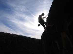 Rock climbing is a popular sport in Logan Canyon. Photo by Kate Rouse DuHadway.