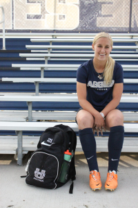 Taryn Rose, a red-shirt senior on the Utah State soccer team.